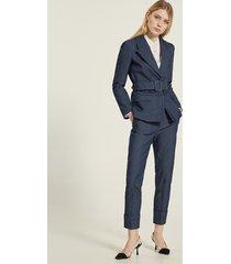 motivi pantaloni a sigaretta effetto denim donna blu