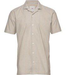 emanuel kortärmad skjorta beige minimum