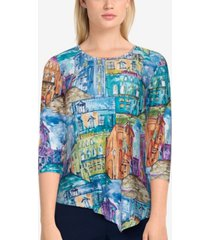 alfred dunner women's missy bryce canyon scenic knit top