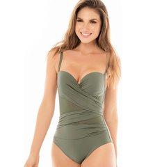 vestido de baño verde chamela 18575