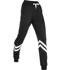 pantaloni in felpa lunghi livello 1 (nero) - bpc bonprix collection