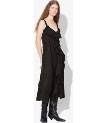 proenza schouler s/l tie dress-solid textured tweed black 10
