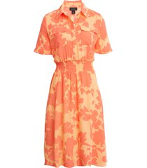 women's halogen x atlantic-pacific floral smocked utility dress