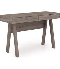 mesa para escritório tecno mobili me4128 marrom - tricae