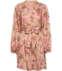 70's mini dress korte jurk roze by ti mo
