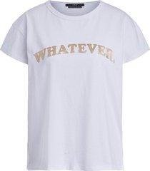 t-shirt met print whatever  wit