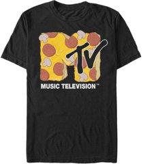 fifth sun men's pepperoni and mushroom pizza logo short sleeve t- shirt