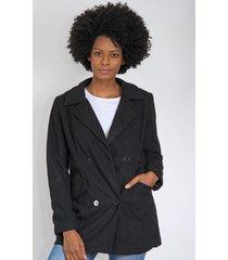 casaco queens paris alfaiataria preto