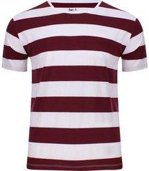 camiseta con líneas en contraste color vino, talla xs