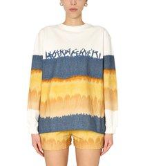 alberta ferretti i love summer crew neck sweatshirt