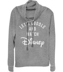 fifth sun juniors disney logo disney cuddles fleece cowl neck sweatshirt