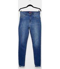 calça jeans biotipo plus size skinny cintura alta feminina