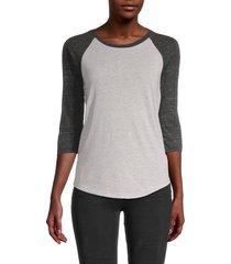 alternative women's eco jersey raglan-sleeve baseball t-shirt - eco light grey - size s