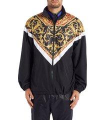 men's versace baroque jacket, size 52 eu - red