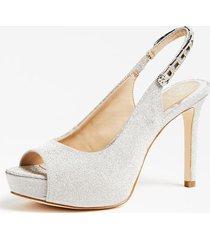 błyszczące sandały na obcasie model edyn