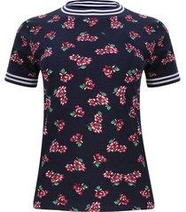 camiseta con tiras tejidas color azul, talla 6