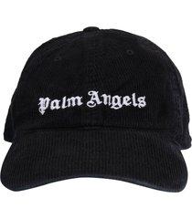 palm angels corduroy classic logo cap