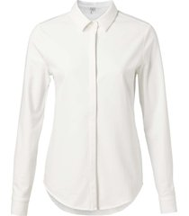 cotton blend shirt pure white