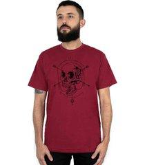 camiseta ventura open your mind vinho - vinho - masculino - dafiti