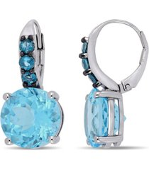 blue topaz (15-1/4 ct.t.w.) drop earrings in sterling silver