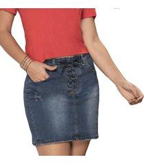 falda isabelle azul para mujer croydon