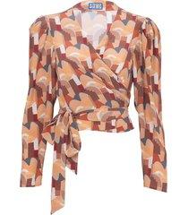 bonifacio abstract odalys blouse neutral