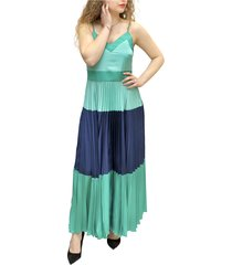 long pleated satin petticoat dress