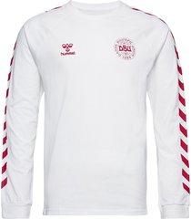 dbu fan 2020 cot. tee l/s t-shirts football shirts vit hummel