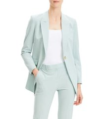 women's theory etiennette b good wool suit jacket, size 00 - green