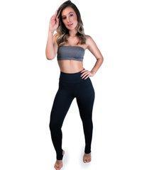 calça legging mvb modas pezinho cintura alta preta