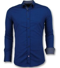 getailleerde overhemden mannen - blanco blouse - 3041
