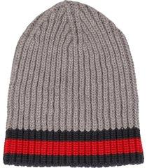 web trim knitted beanie
