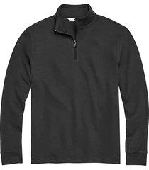 joseph abboud men's black modern fit 1/4 zip sweater - size: large