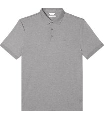 calvin klein liquid touch modern fit polo shirt heather gray