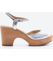 sandalia casual mujer unisa shoes sduo gris plata