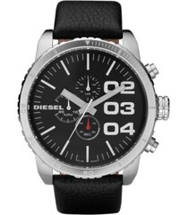 diesel chronograph black leather strap watch 58x52mm