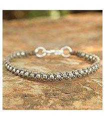 silver braided bracelet, 'hill tribe heir in khaki' (thailand)