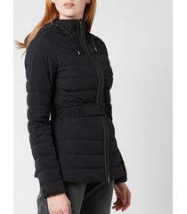 mackage women's roselyn belted coat - black - l