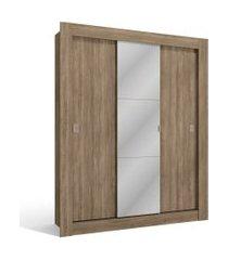 roupeiro 3 portas de correr nogal de madeira kappesberg marrom