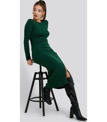 trendyol binding detailed ribana dress - green