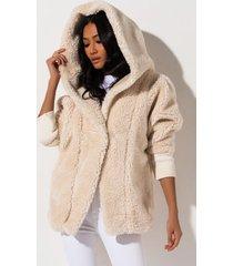 akira long distance furry jacket