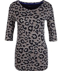 marccain sports - hs 4887 j04 664 - shirt leopard print taupe