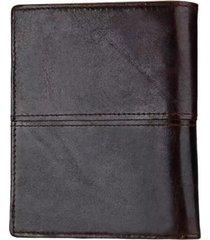 billetera con tajetero cuero marrón millam