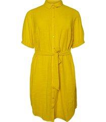 jurk geweven blouse