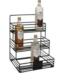 mind reader iron condiment bottle holder - 12 capacity
