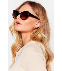 womens tort you'd be here tinted rounded sunglasses - brown