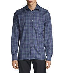 plaid long-sleeve shirt