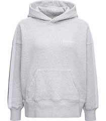 palm angels grey cotton hoodie with logo