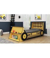 cama trator 090 amarelo gelius móveis - tricae