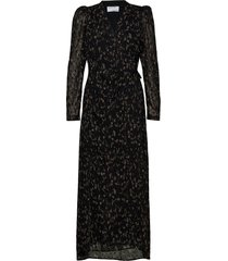 kiely long wrap dresses wrap dresses svart designers, remix